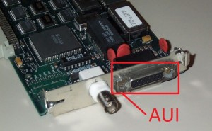 AUI konektor